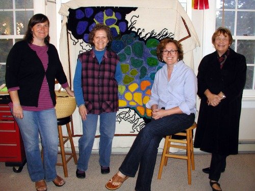 Visiting Anne Marie Littlenberg in her studio, October 2011