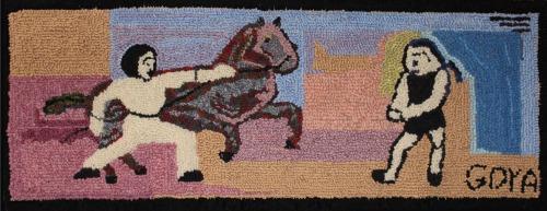 Goya Rug adapted & hooked by Emma Webber