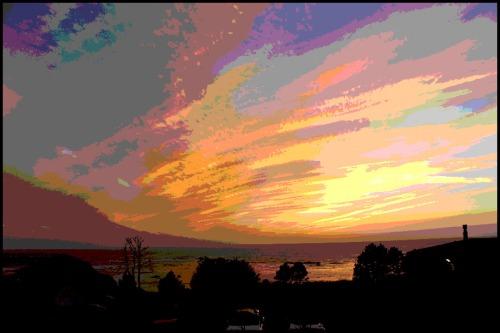 Sunset Clouds posterized...