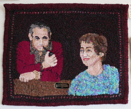 'Bill & Betty - Husband & Wife Champions' designed & hooked by Polly Webber