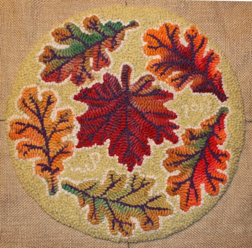 More Autumn Leaves designed & hooked by Laura Pierce