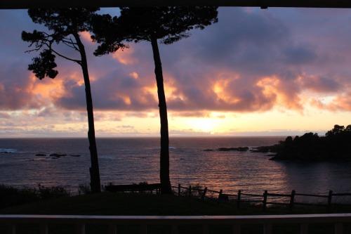 Firey Sunset at Little River Inn