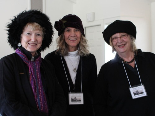China, Diane and Susan keep their heads warm