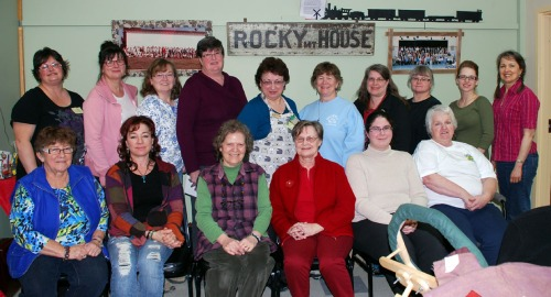 April Workshop Group at Rocky Mountain House