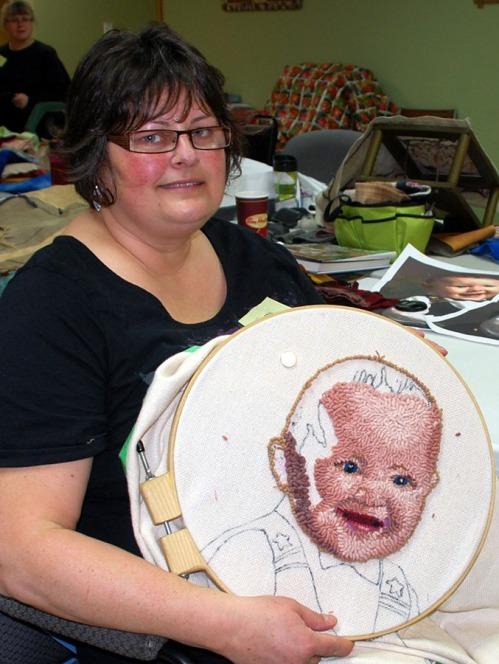 Leona with baby portrait