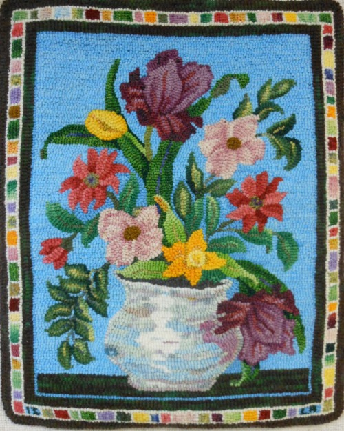 June Flowers in a silver bowl by Lynn Roth