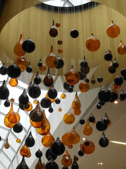 Glass Raindrops at the Edmonton Mall