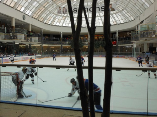 Hockey at the Edmonton Mall