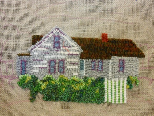 Grandparents Home designed and hooked by Jan