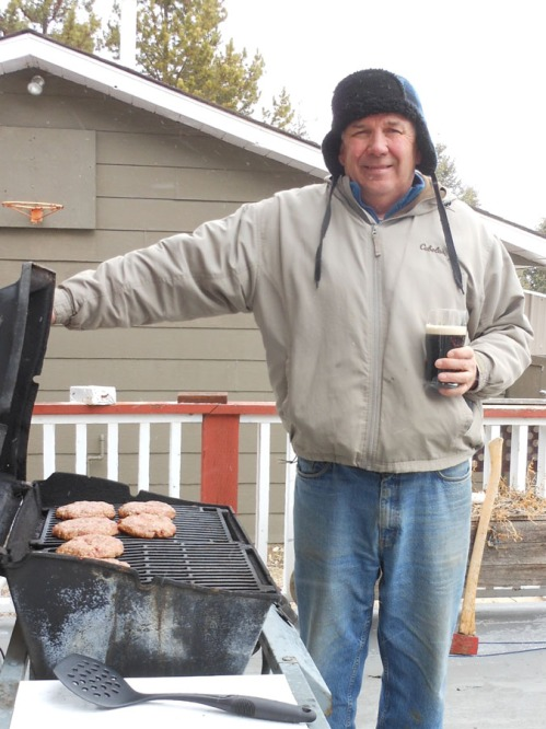 Jerry Caswell cooks burgers