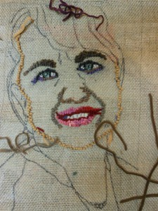 beginnings of a self portrait by Lisa