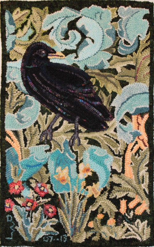 Forest Crow adapted from Wm Morris tapestry