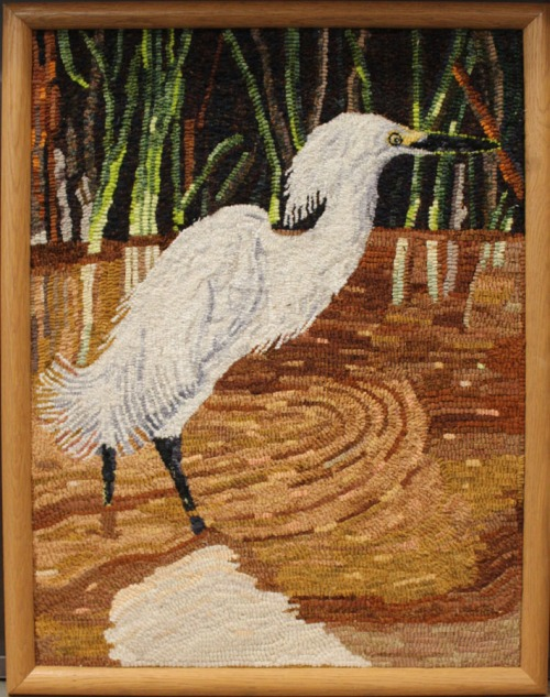 'Snowy Egret' hooked by Michele Wise