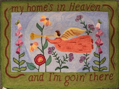 'Silhouette Angel' hooked by Nancy Terhaar