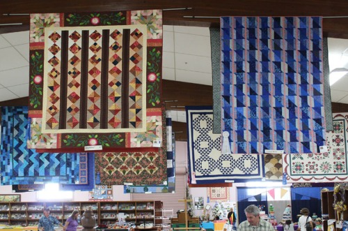Inspirational Quilts hang at the Sonoma Co Fair