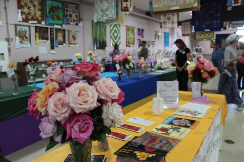 Roses with the Fiber Arts at Sonoma Co Fair