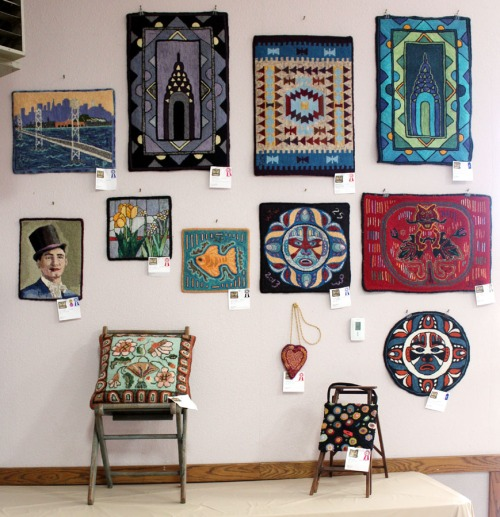 Hooked Rugs at Sonoma Co Fair - south wall
