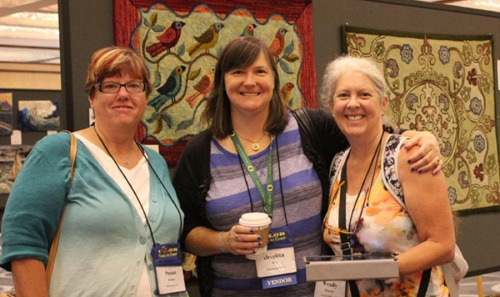 Brigitta Phy with friends; Susan Kleidon on the left and Wendy Brannan on the right