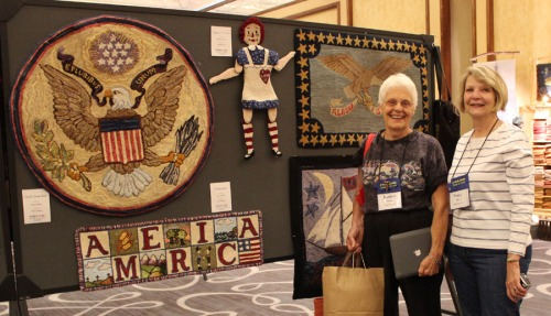 Jeanine Hillman & Nancy Bailey enjoy the Rug Show!