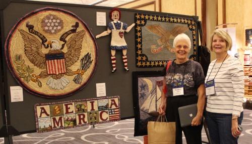 Jeanine Hillman & Nancy Bailey enjoy the Rug Show!