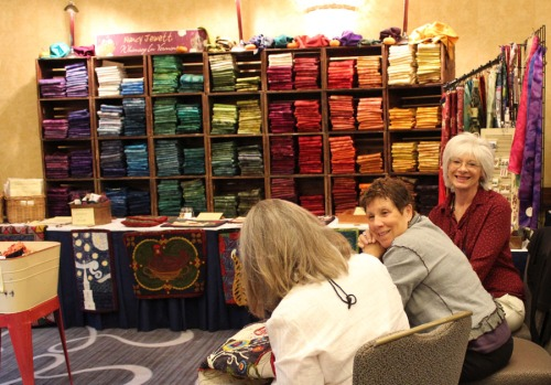 Nancy Jewett and friends at her booth; 2013 ATHA Biennial