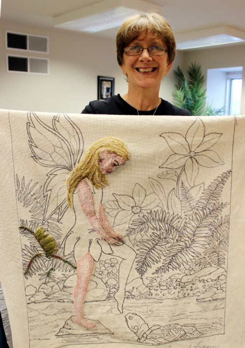 Cindy Irwin's fairy daughter is ready for her costume!