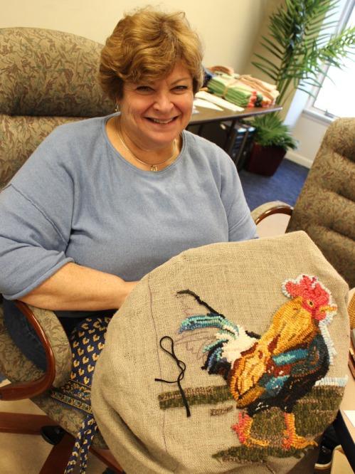 Debbie Schmidt hooked some Hawaiian roosters!