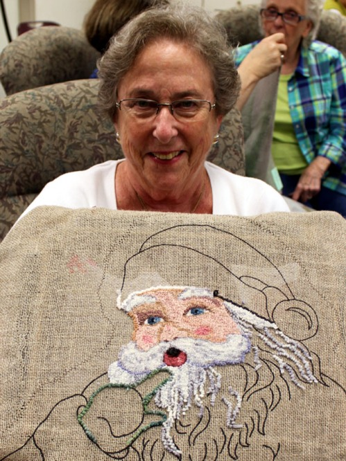 Sally Raub does Santa!