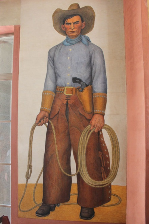 Coit Tower mural of the California Cowboy