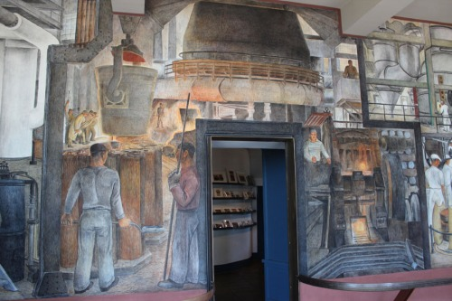 Coit Tower mural of the industrialization