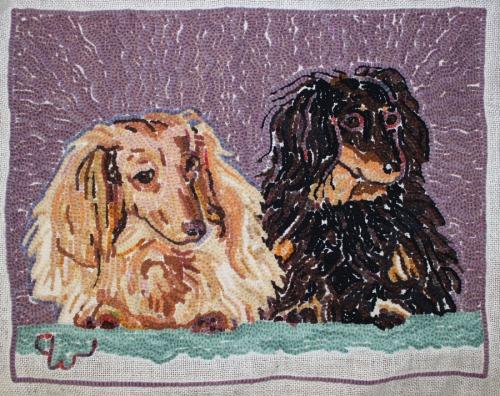 back side of 'Rufus & Milo' rug