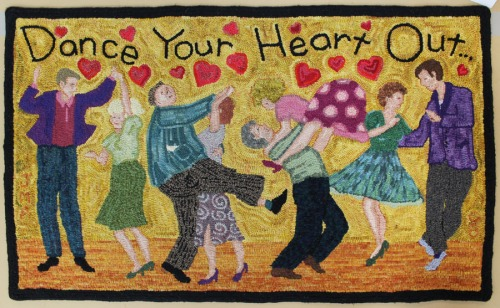 'Dance Your Heart Out' hooked by Janice Ashley
