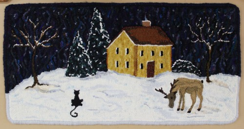 'Winter Night' hooked by Michelle Petit