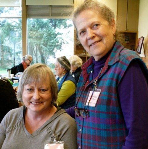 Michele Wise and Laura Pierce at Puget Sound Rug School 2016