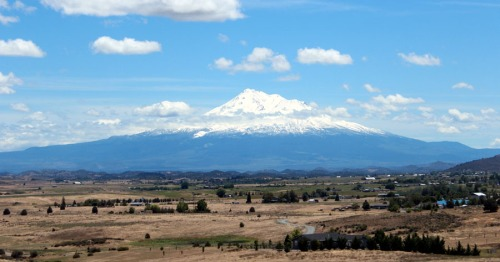 Zooming by the view of Mt.Shasta from Hwy5