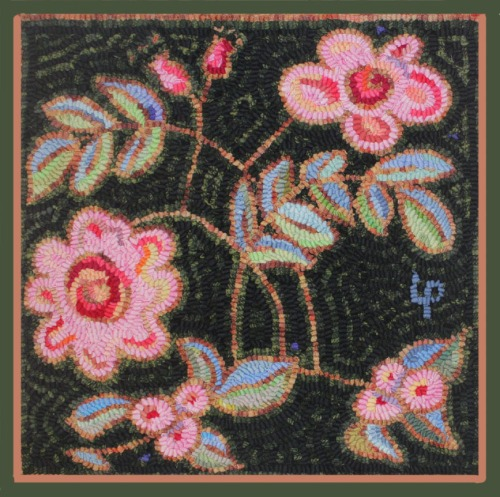'Think Pink' Caswell by Laura Pierce with green border