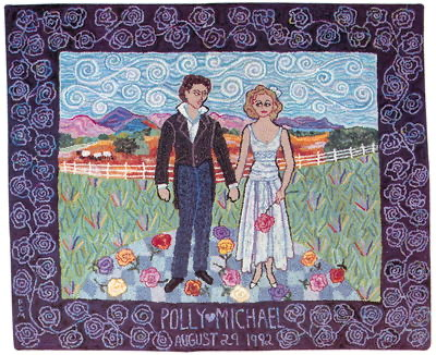 b PM wedding rug